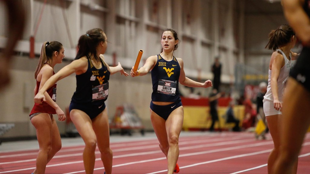 Members of the track and field team running