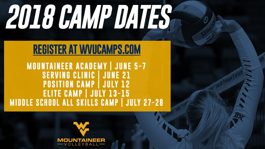 2018 Volleyball Camps Announced West Virginia University Athletics
