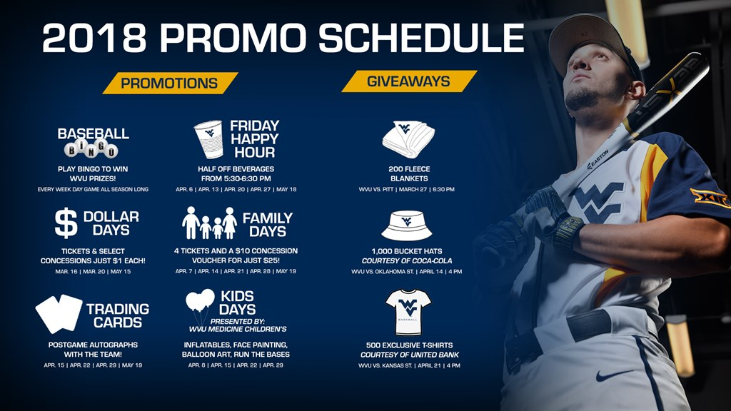 promotions and giveaways unveiled west virginia university athletics
